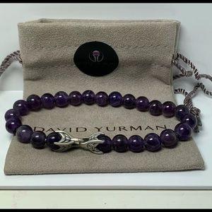 🌼DAVID YURMAN Spiritual Beads Silver Amethyst 8mm